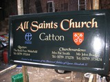 Hand painted churh sign