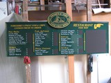Hand painted menu sign
