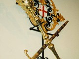 Gilded bracket for Lord Mayors sword and scepter